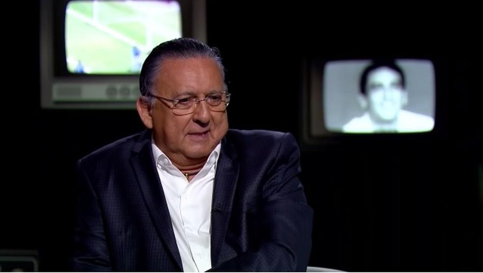 Galvão Bueno foi levado a hospital em Lima — Foto: reprodução/vídeo