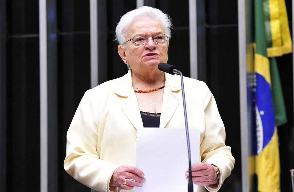 A deputada Luiza Erundina (PSOL-SP), candidata à presidência da Câmara — Foto: Luis Macedo/Câmara dos Deputados