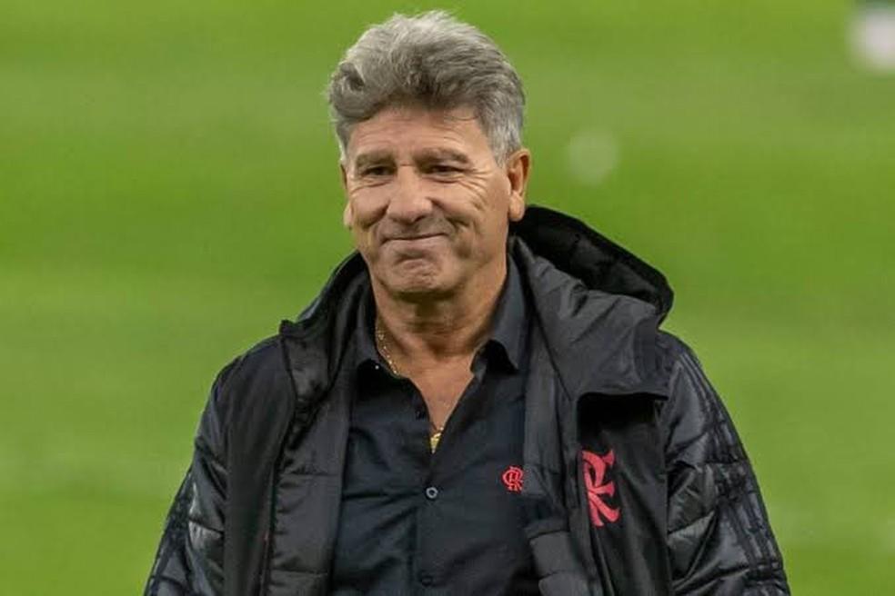 Renato Gaúcho, em jogo pelo Flamengo — Foto: Reprodução