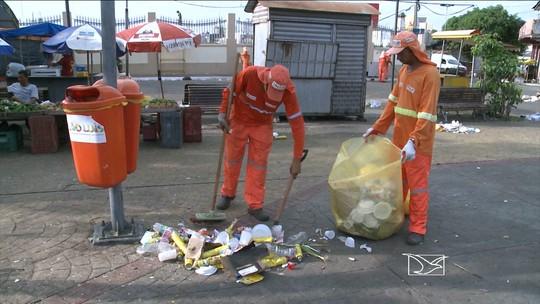 Limpeza é reforçada em locais com programação de Carnaval em São Luís