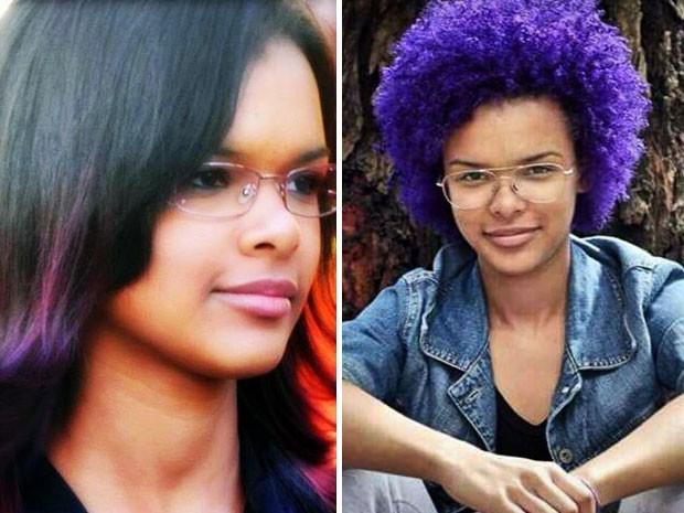 A percussionista Cristina Linhares convenceu a irmã de nove anos a não alisar o cabelo (Foto: Arquivo Pessoal/Cristina Linhares)