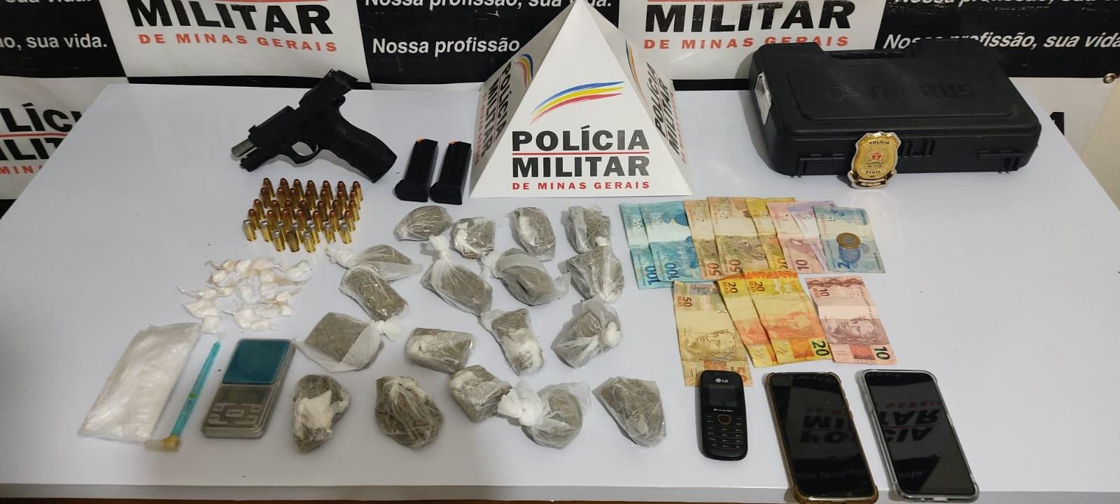 Irmão são presos com arma e drogas durante operação em Lajinha