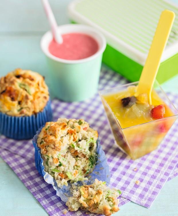 Muffin de legumes com ricota e parmesão (Foto: Elisa Correa / Editora Globo)
