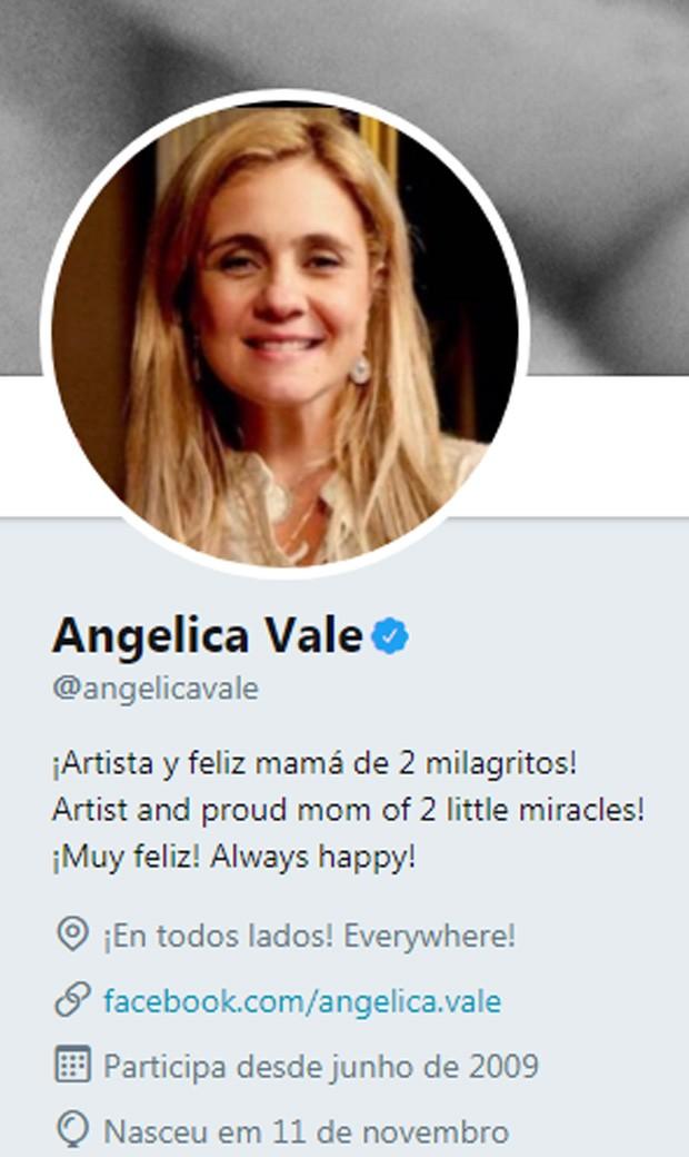 Angélica Vale perde aposta e vira Carminha no Twitter (Foto: Reprodução)