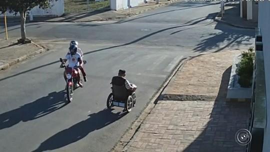 Polícia prende suspeito de assaltar cadeirante no meio da rua no interior de SP