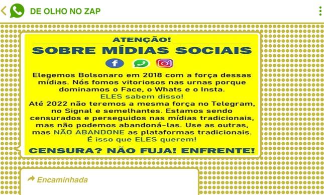 Bolsonaristas temem perda de hegemonia nas redes sociais em 2022