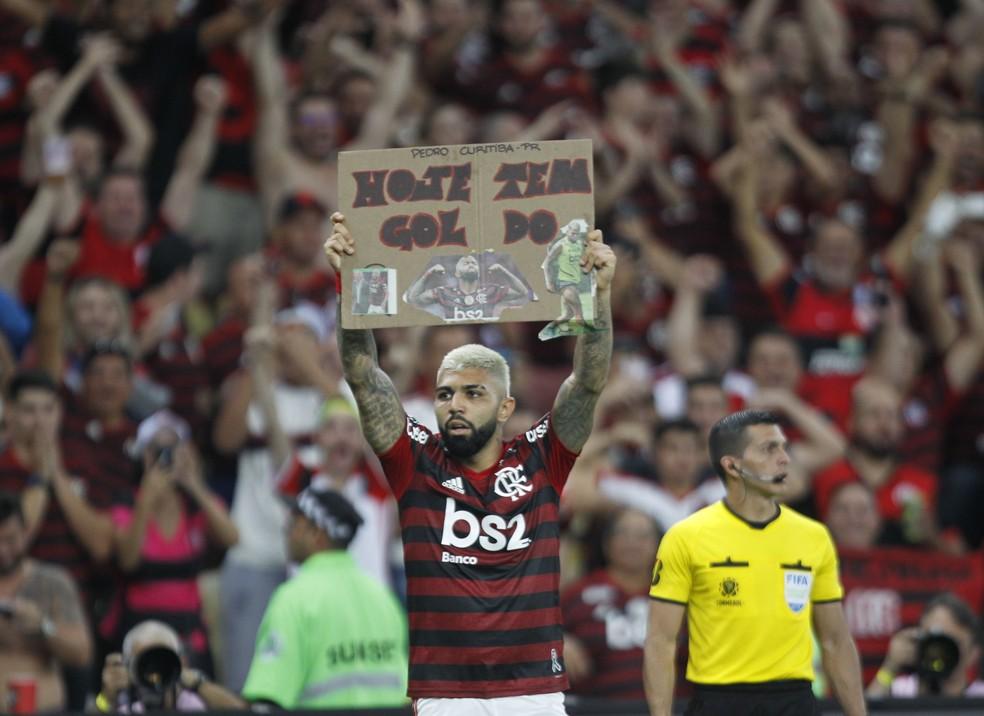 """Permanência de Gabigol passa muito pelo atacante de comprar """"briga"""" do Flamengo — Foto: André Durão"""