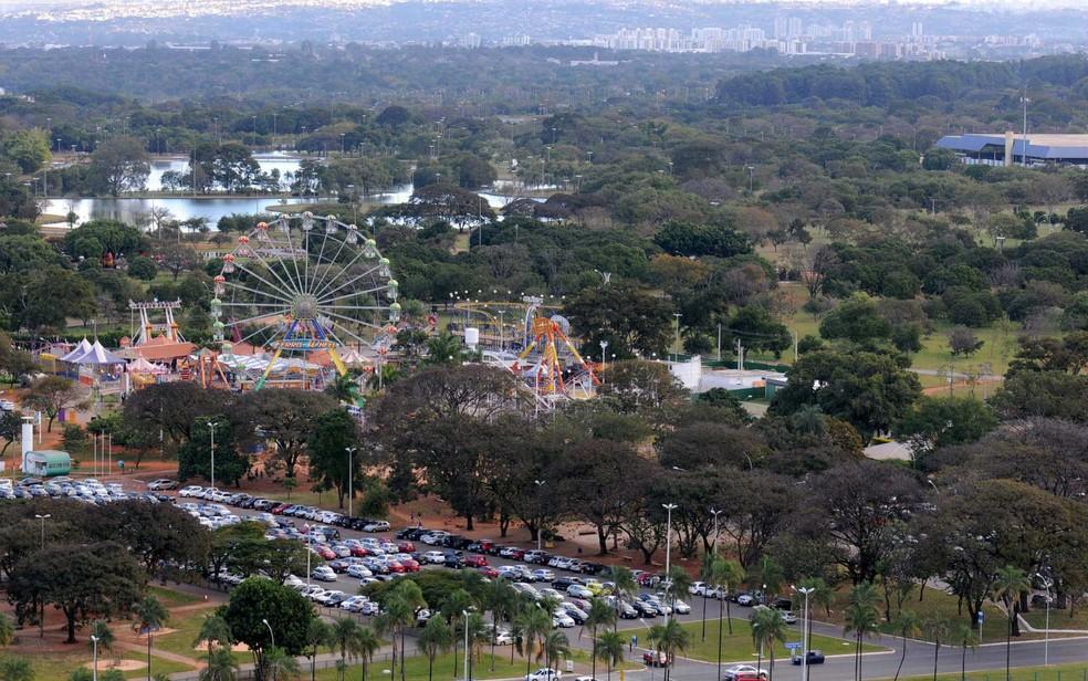 Vista aérea do Parque da Cidade, em Brasília (Foto: Renato Araújo/GDF/Divulgação)