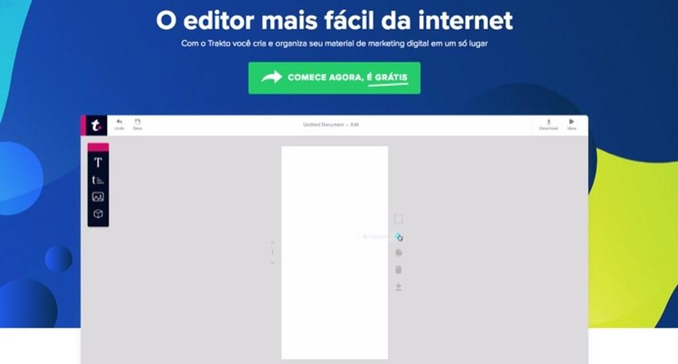 7615d3d830 ... Tutorial mostra como usar o site Trakto para criar posts estilizados  para redes sociais — Foto