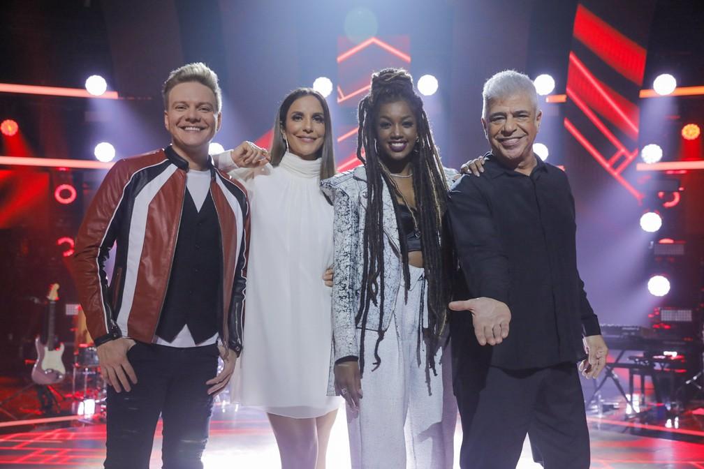 Duelo de duetos: Michel Teló, Ivete Sangalo, Iza e Lulu Santos revelam ao G1 quais são seus duetos perfeitos — Foto: Globo/Victor Pollak