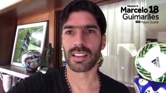 Loco Abreu grava vídeo em apoio a Guimarães na eleição do Botafogo