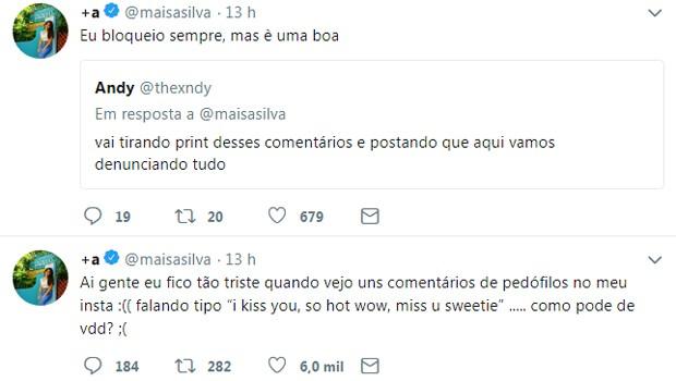 Maisa Silva usa Twitter para desabafar (Foto: Reprodução)