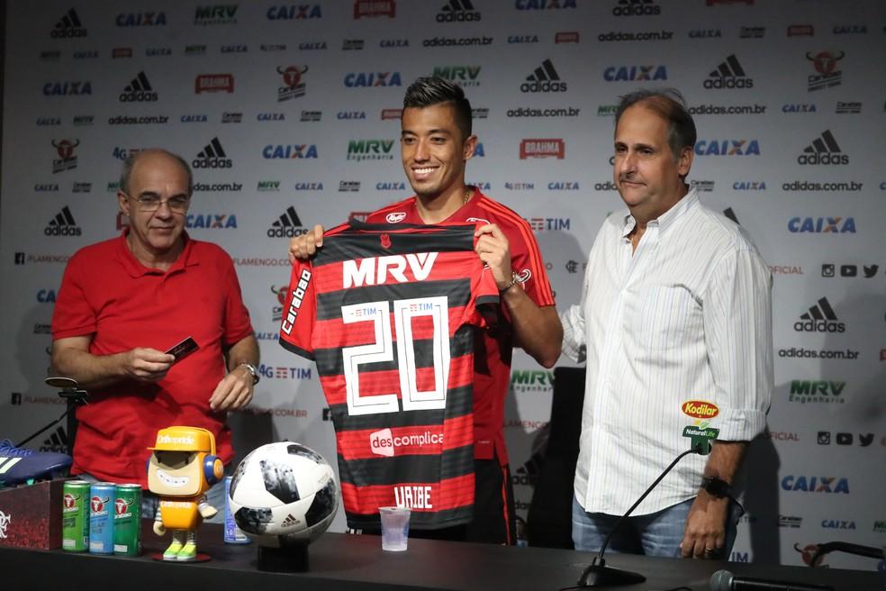 Uribe vai usar a camisa 20, que era de Vinicius Junior (Foto: Gilvan de Souza / Flamengo)