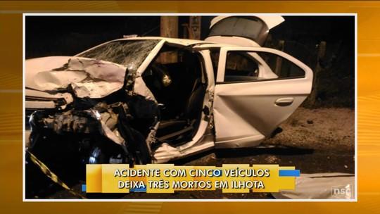 Pelo menos 10 morrem em acidentes em SC entre tarde de sábado e manhã deste domingo