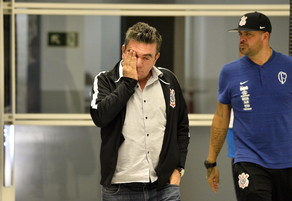 Andrés Sanchez, presidente do Corinthians, lida com dificuldades financeiras — Foto: Marcos Ribolli