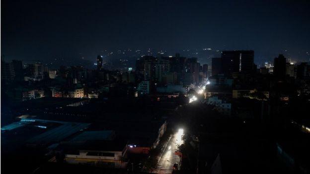 A Venezuela sofreu um apagão recentemente (Foto: Getty Images via BBC News)