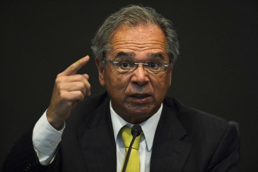 Paulo Guedes, ministro da Economia — Foto: Marcelo Camargo/Agência Brasil