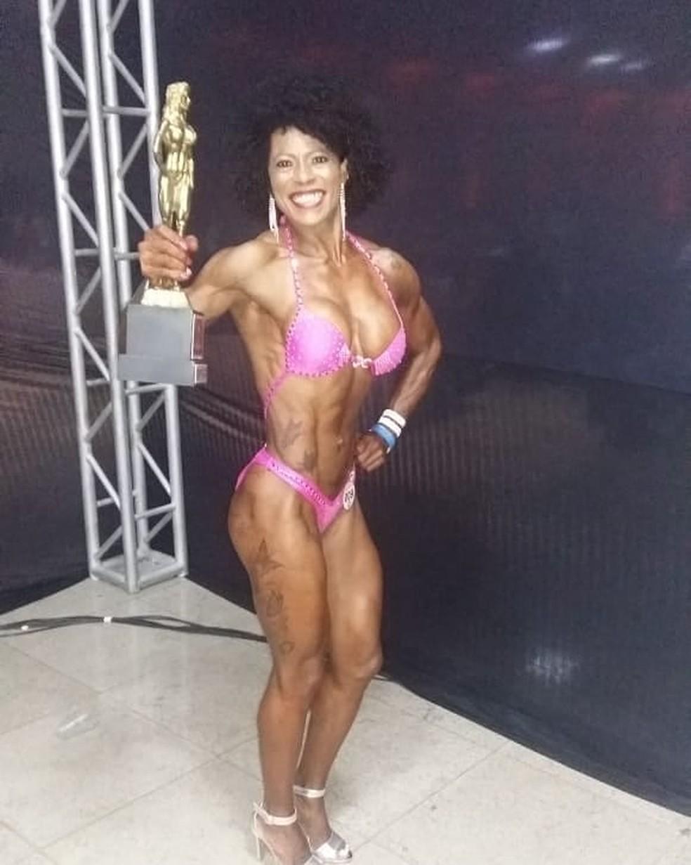 Sandra é campeã baiana de fisiculturismo — Foto: Reprodução/Instagram