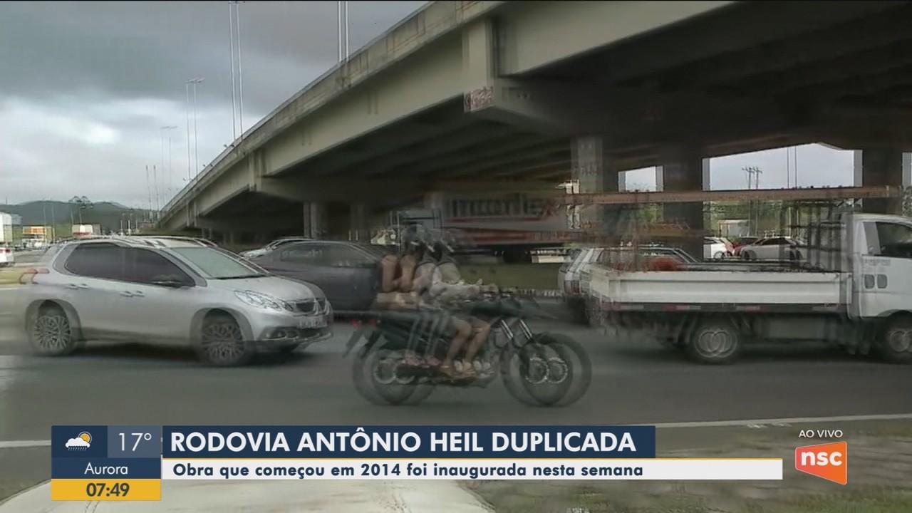 Rodovia Antônio Heill é entregue duplicada