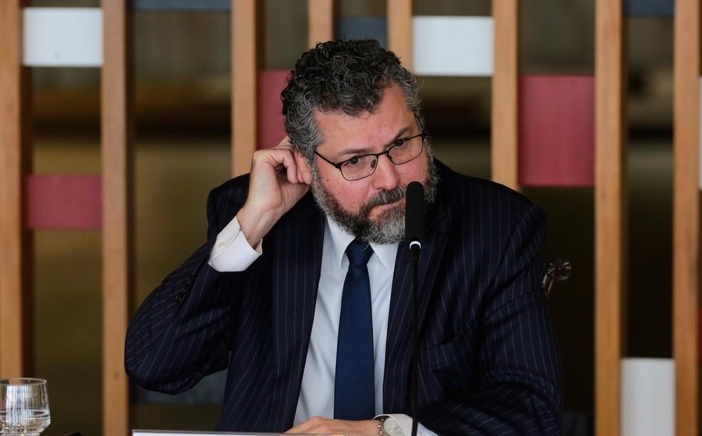 O ex-ministro das Relações Exteriores, Ernesto Araújo — Foto: Wallace Martins / Futura Press/Estadão Conteúdo