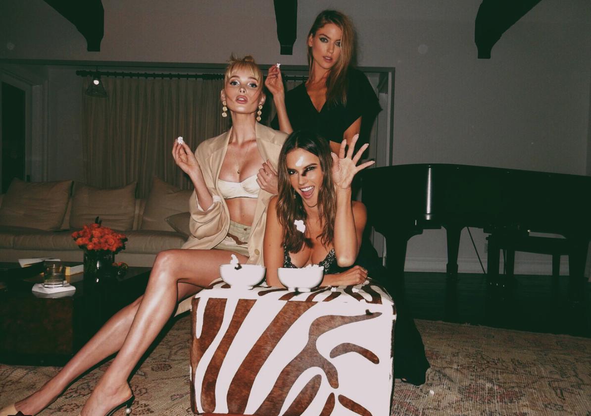 Ale Ambrosio, Elsa Holsk e Martha Hunt (Foto: Reprodução/ Instagram)