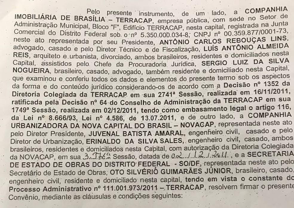 Em 2011, Terracap assinou convênio para obras no viaduto da Galeria dos Estados (Foto: Reprodução)