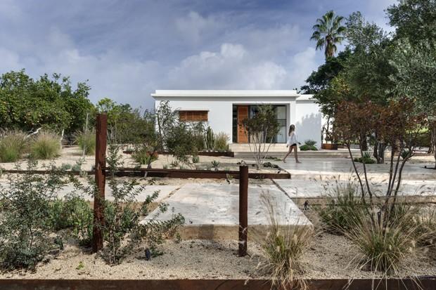 Casa de 1935 ganha reforma inspirada na natureza que a cerca  (Foto: Oded Smadar)