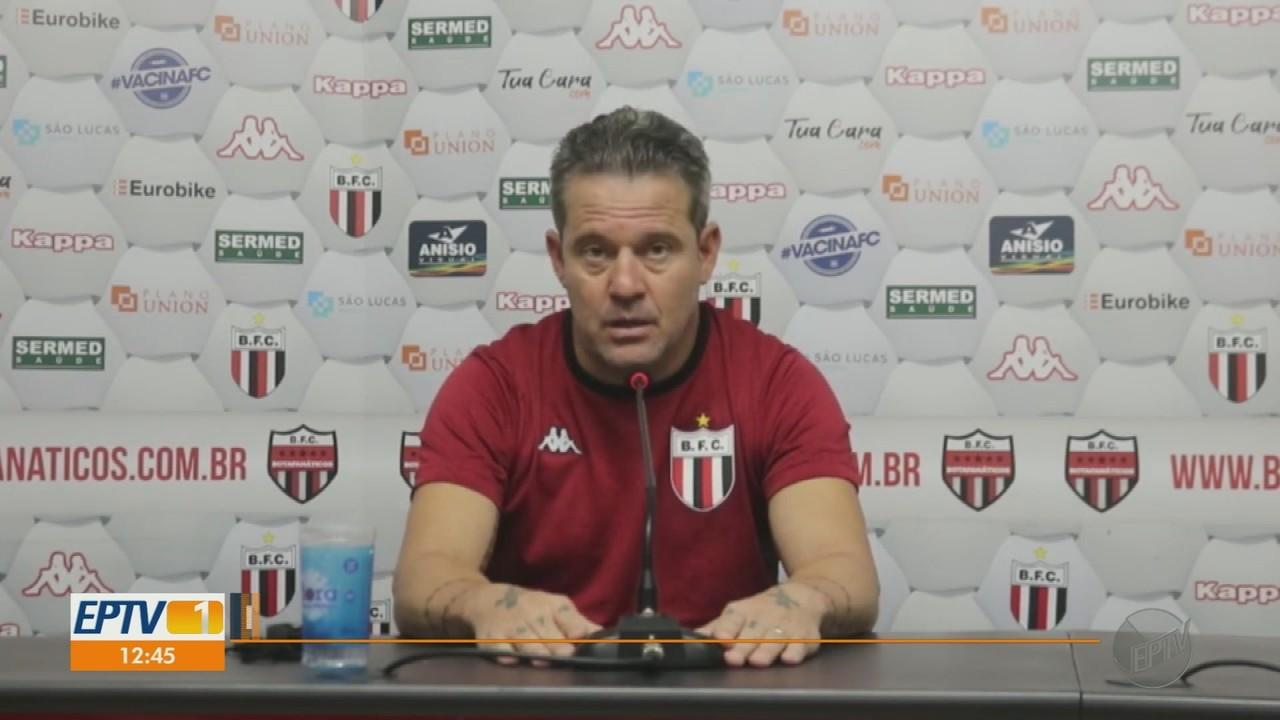 Argel Fuchs vê ataque como principal problema do Botafogo-SP