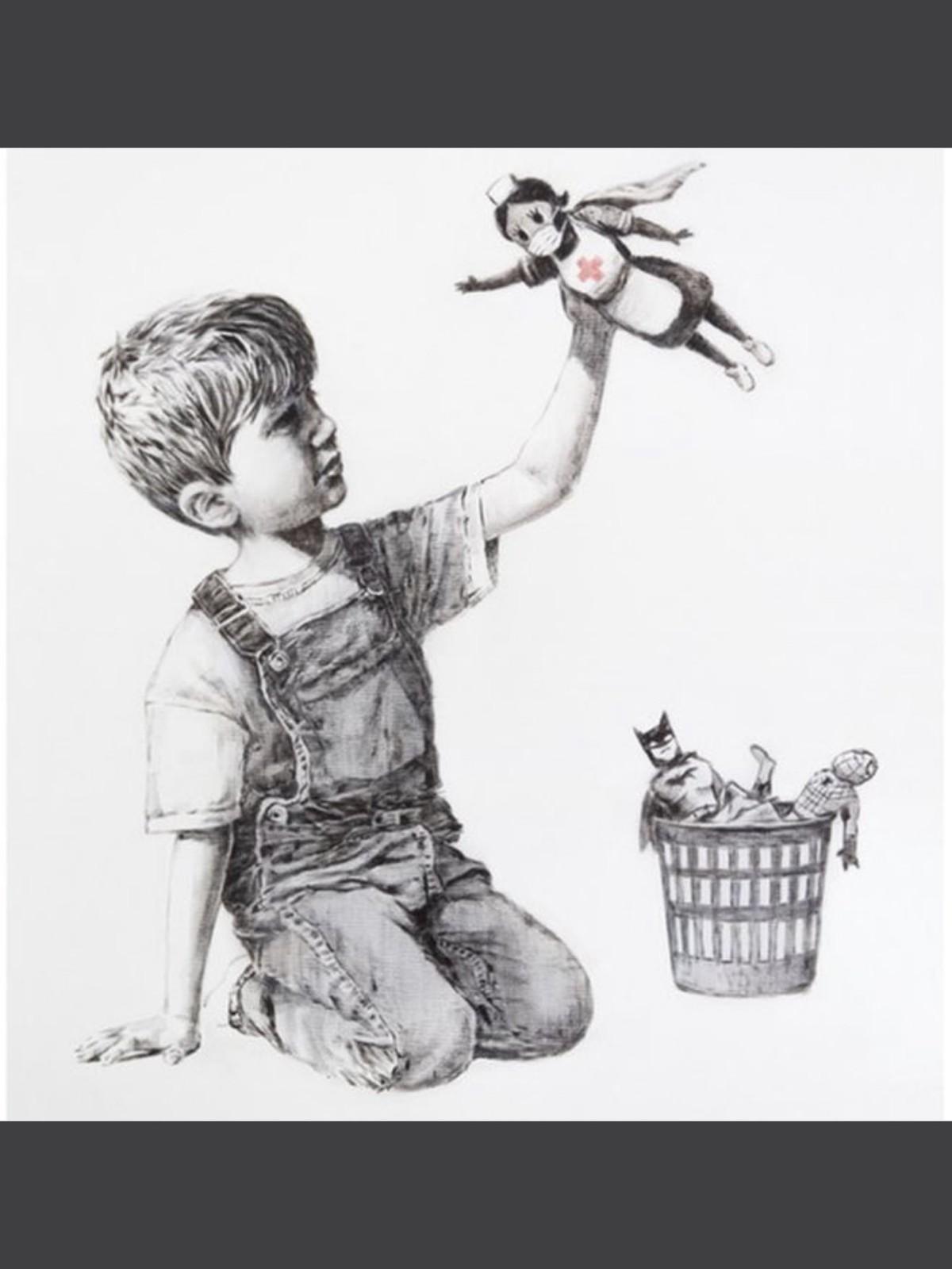 Nova obra de Banksy mostra enfermeira como heroína | Coronavírus