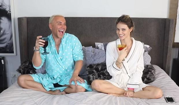 Matheus Mazzafera e Laura Neiva (Foto: Reprodução/Instagram)