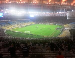 Visão do campo a partir do nível 5, o mais alto, do Maracanã (Foto: Vicente Seda)