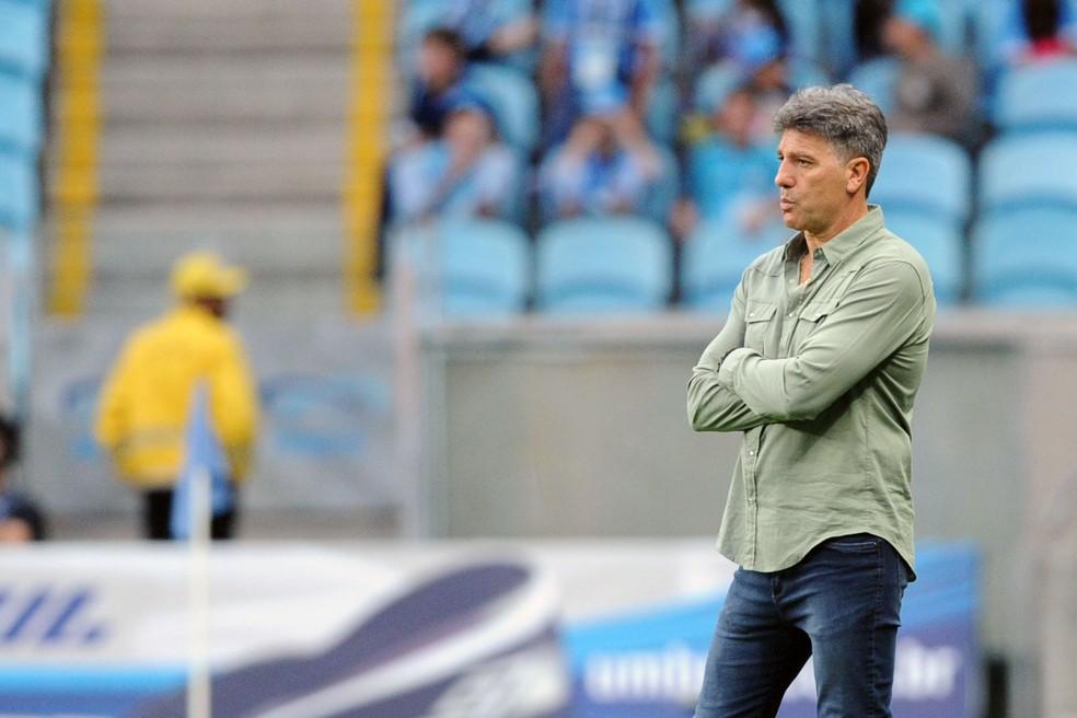 Renato cobra foco de elenco gremista — Foto: Wesley Santos / Agência PressDigital