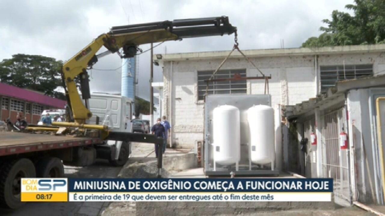 Miniusina de oxigênio instalada pela Prefeitura de SP em hospital começa a operar nesta terça