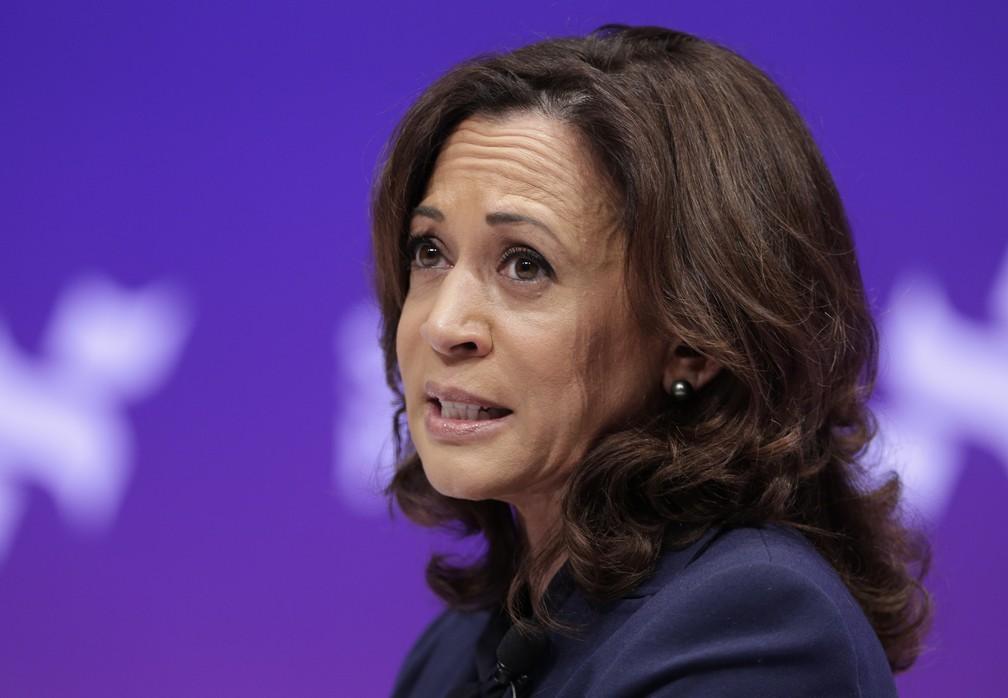 A pré-candidata democrata Kamala Harris. — Foto: Michael Wyke/AP