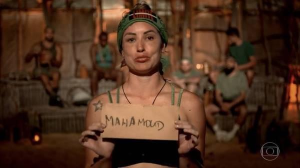 Jéssica votou em Mahmoud na estreia de 'No limite' (Foto: Reprodução)