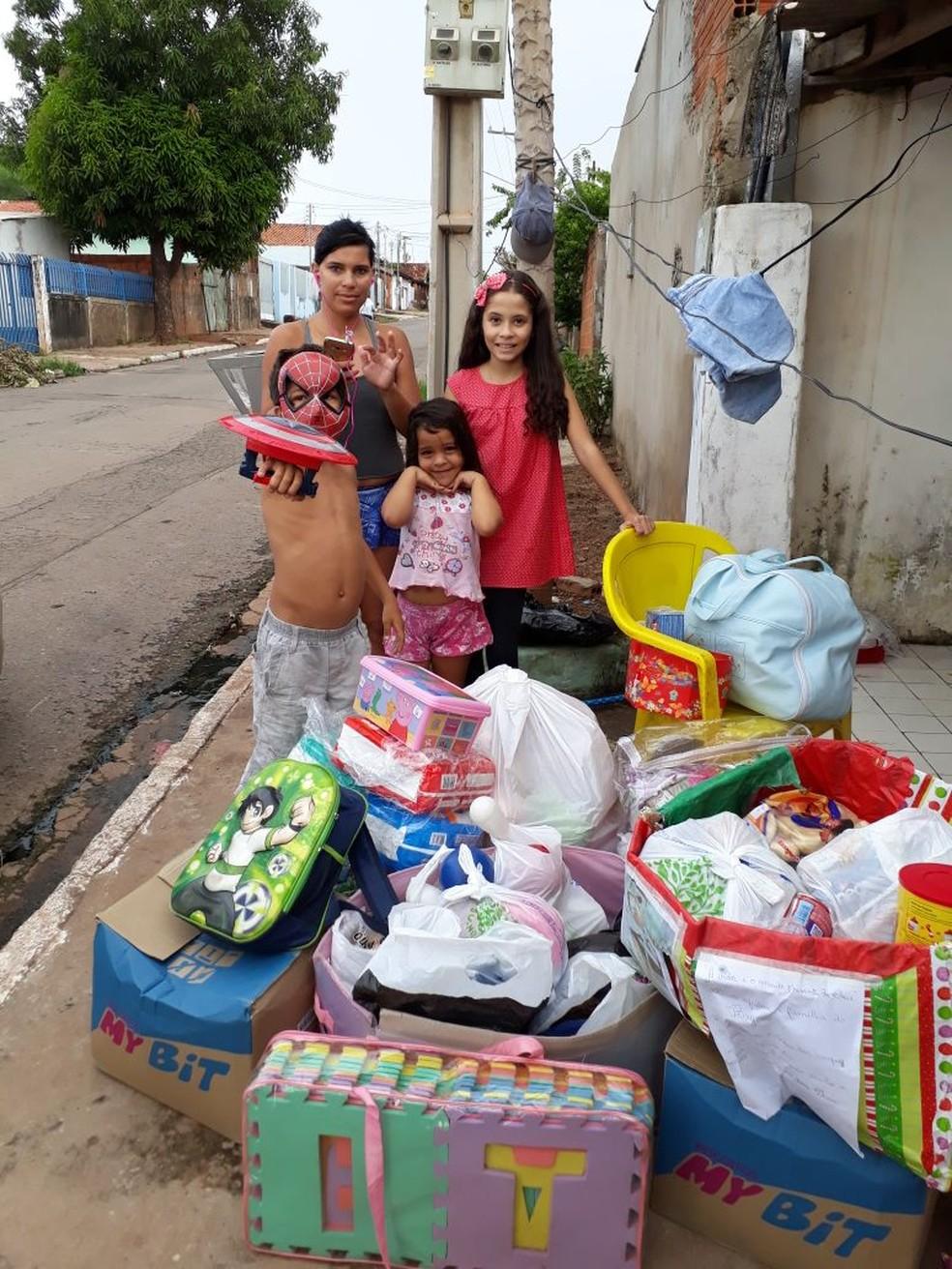 Vizinhos e colegas da escola têm colaborado com a campanha (Foto: Adriana Dourado/ Arquivo pessoal)