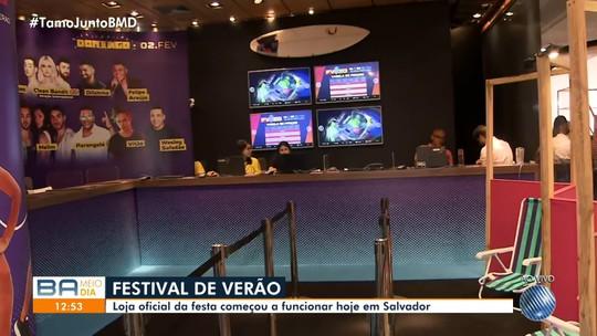 Loja do Festival de Verão 2020 é aberta em shopping de Salvador