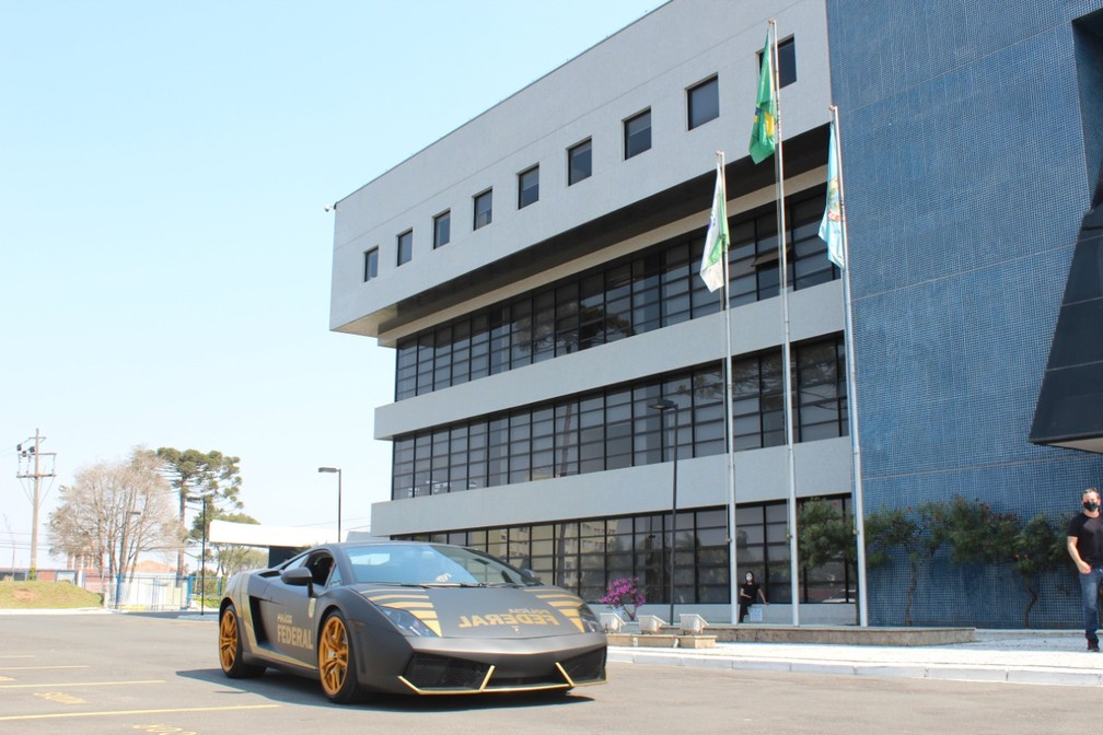 Lamborghini Gallardo LP 560-4 é avaliado em aproximadamente R$ 800 mil — Foto: Divulgação/PF