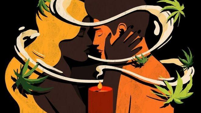 Produtos a base de cannabis são usados principalmente por mulheres para potencializar experiências sexuais (Foto: RAPHAELLE MARTIN/BBC THREE)