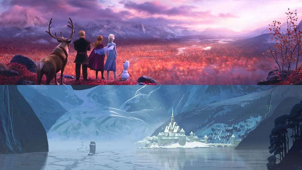 """Visual de """"Frozen 2"""" é bem diferente de """"Frozen - Uma Aventura Congelante"""" e foi um desafio para os animadores e diretores de artes — Foto: Divulgação/Disney"""