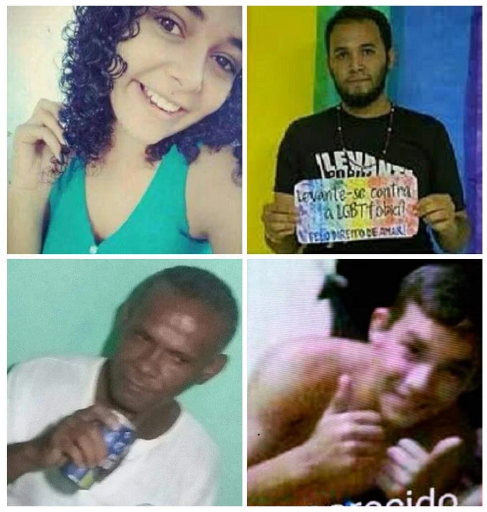 Jheyderson de Oliveira, acima à direita, é uma das vítimas de ritual macabro em Iguatu; Polícia investiga se outros três desapareicidos foram assassinados pelo homem preso (Foto: Reprodução/Desaparecidos)