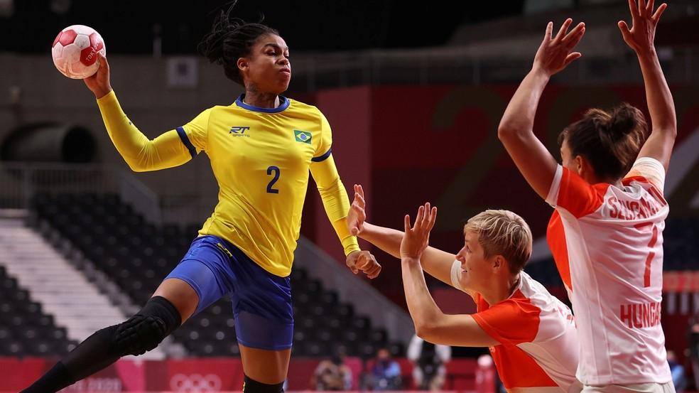 Brasil vence a Hungria pela segunda rodada do Grupo B nos Jogos Olímpicos — Foto: Reuters