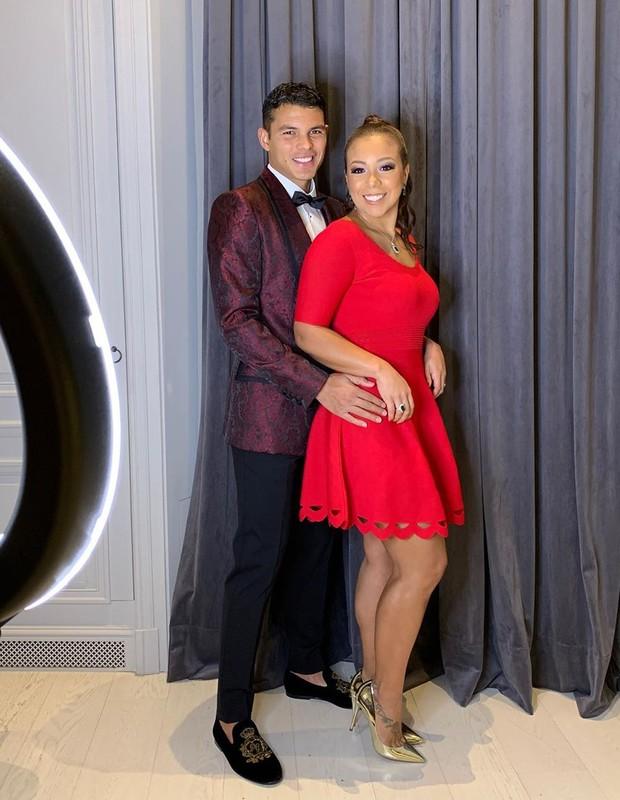 Thiago Silva e a mulher, Bella Silva (Foto: Reprodução/Instagram)