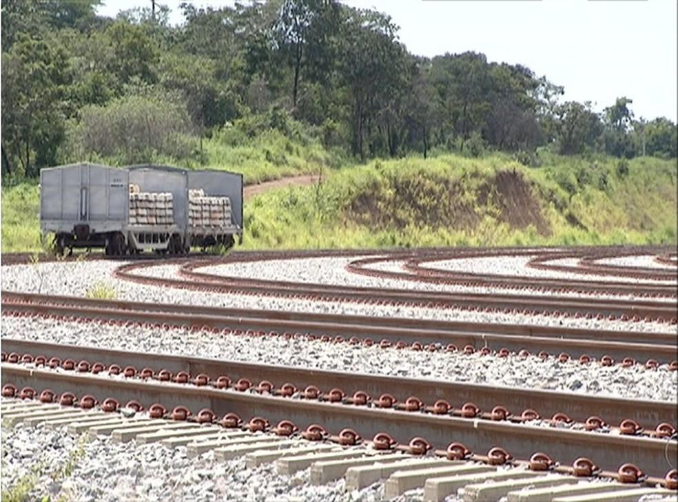 Ferrovia Norte-Sul é um dos projetos que o governo federal quer conceder à iniciativa privada (Foto: Reprodução/TV Anhanguera)