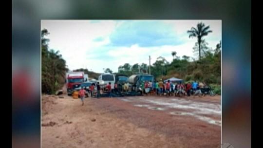 Interdição da BR-163 no município de Rurópolis dura três dias
