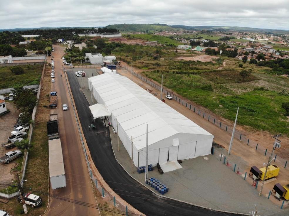 Governo do Maranhão inaugura hospital de campanha para pacientes com Covid-19 em Açailândia (MA) — Foto: Divulgação/Governo do Maranhão