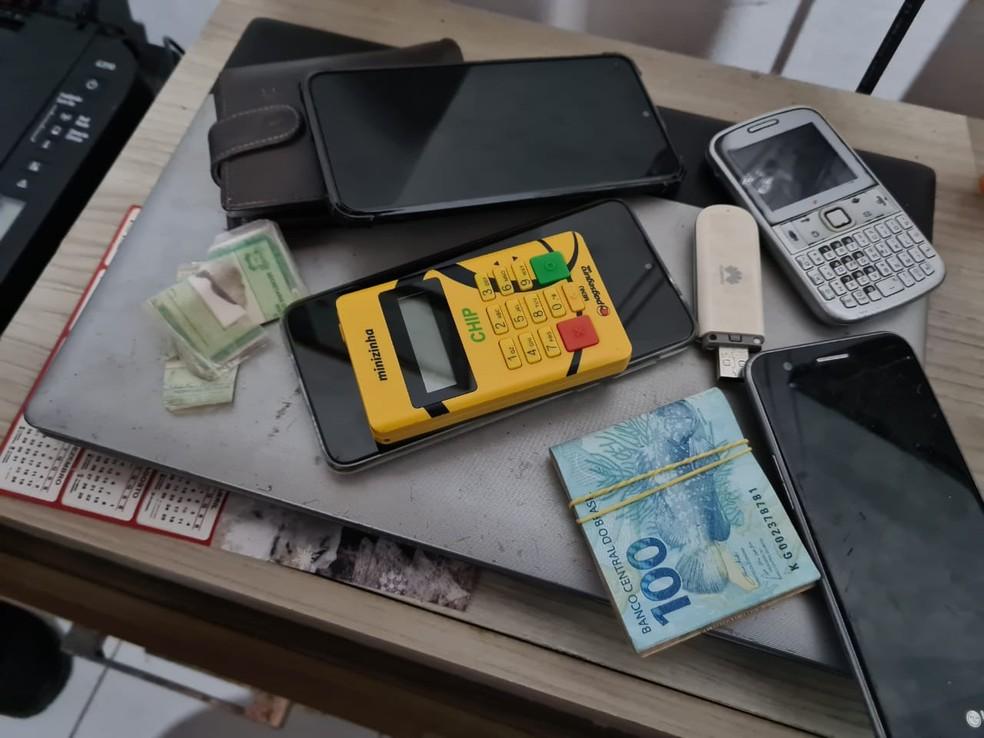 Material apreendido durante operação do Ministério Público contra grupo suspeito de fraudes no RN — Foto: MPRN/Divulgação