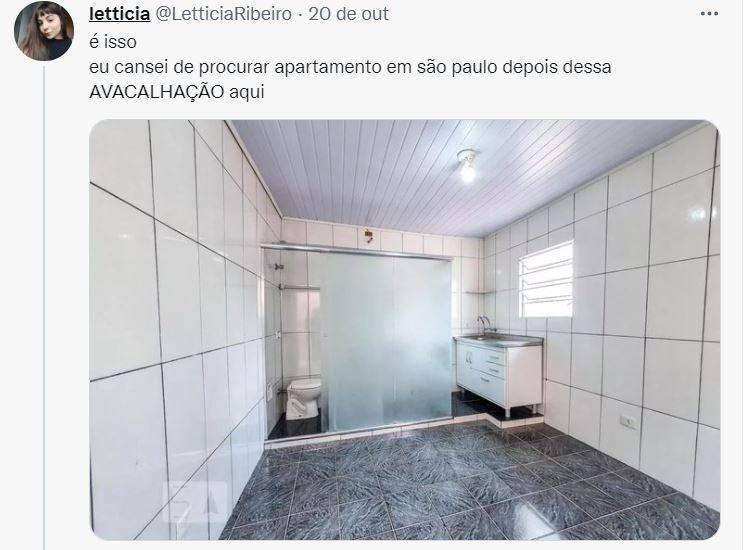 Apartamento para alugar em SP com 16 m² e banheiro dentro da cozinha viraliza nas redes: 'cozinheiro' ou 'banheizinha'
