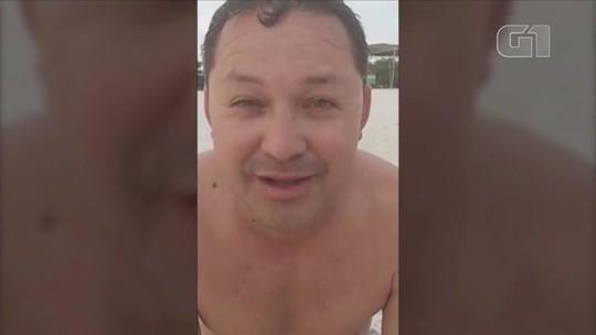 Ministério Público investiga vídeo de vereador 'de folga' na praia