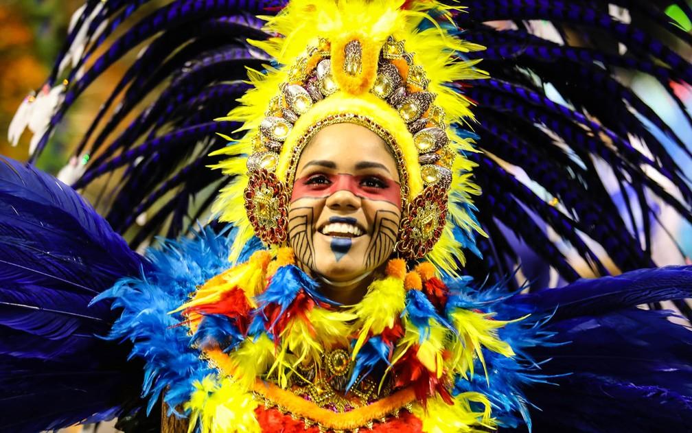 Acadêmicos do Tatuapé homenageia estado do Maranhão no carnaval 2018 (Foto: Fábio Tito/G1)